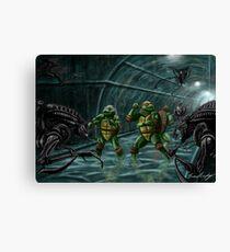 TMNT Vs. Aliens Canvas Print