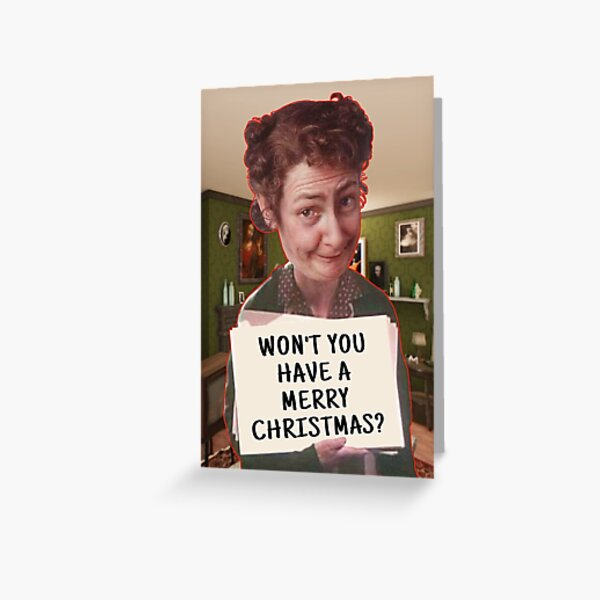 Mrs Doyle Father Ted Merry Christmas Greeting Card