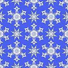 Seamless pattern of snowflakes by miroshina