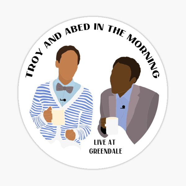 TROY AND ABED IN THE MORNING SIMPLE LOGO Sticker