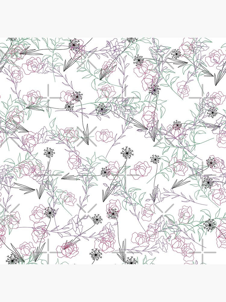 Line Art Floral Pattern by chanzds