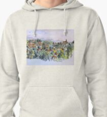 Siena, Italy. 2015© pen and wash Pullover Hoodie