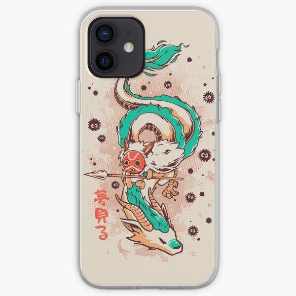 La princesse et le dragon Coque souple iPhone