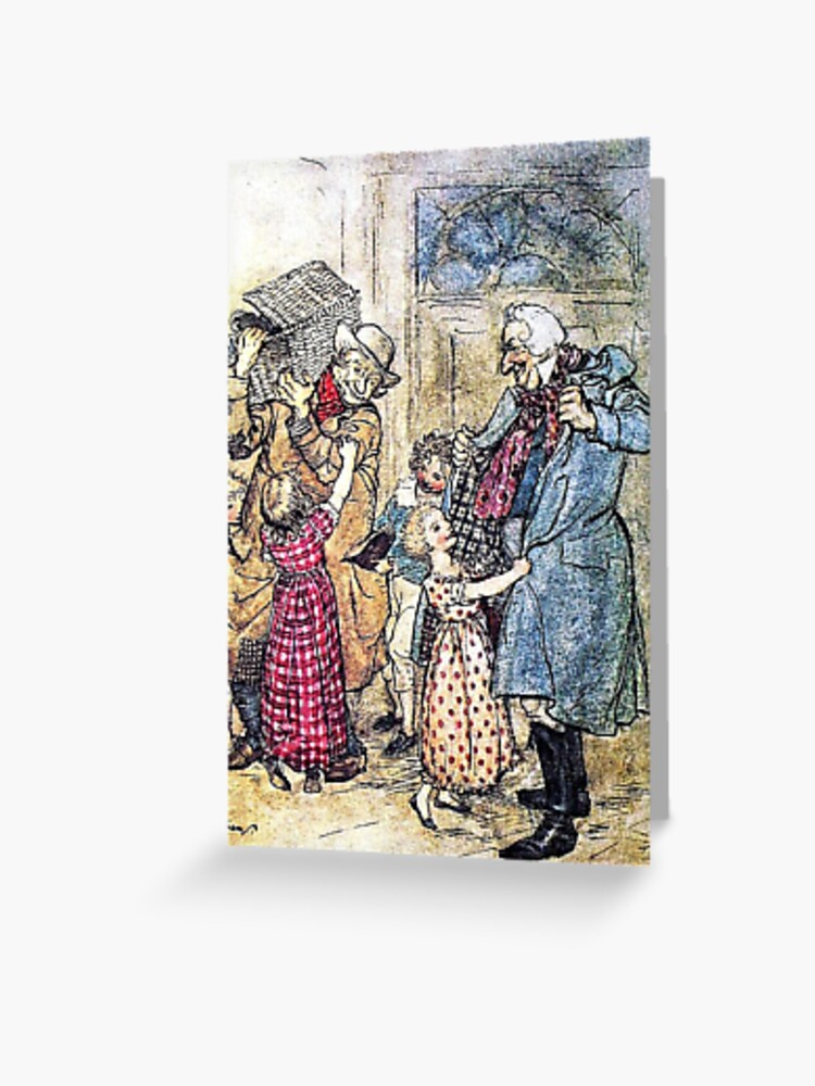 A Christmas Carol Arthur Rackham Illustrated For Charles Dickens Greeting Card By Forgottenbeauty Redbubble