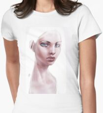 Silver Haired Girl Womens Fitted T-Shirt