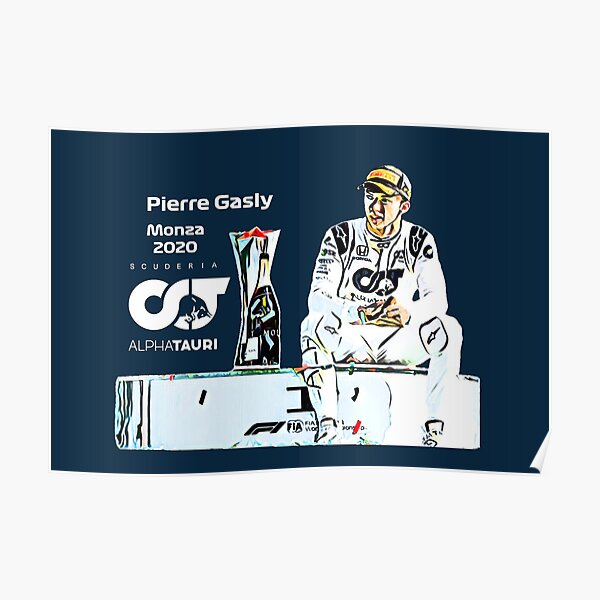 Pierre Gasly Monza Poster