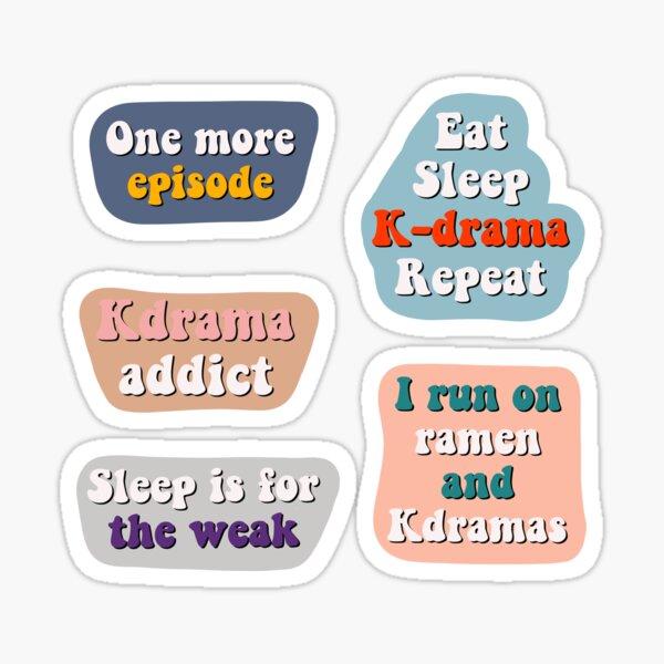 Pack d'autocollants Kdrama Sticker