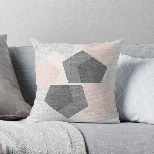 Linen Geometrics Throw Pillow