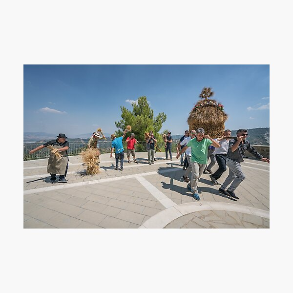 Dancing the sickle - San Paolo Albanese Photographic Print