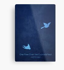 One Flew Over the Cuckoo's Nest Minimalist Poster Metal Print
