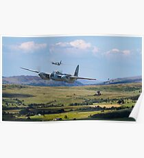 RAF Mosquito - Train Buster Poster