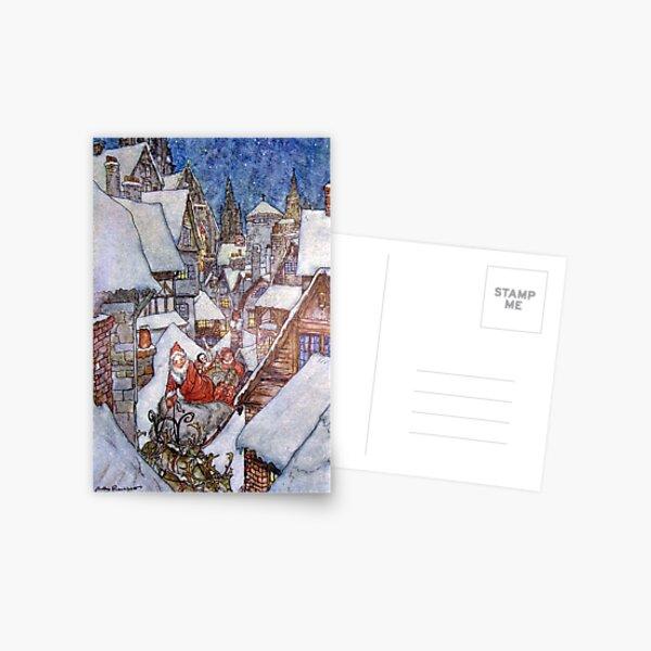 """It Must Be Saint Nick"" - Arthur Rackham for ""The Night Before Christmas"" Postcard"