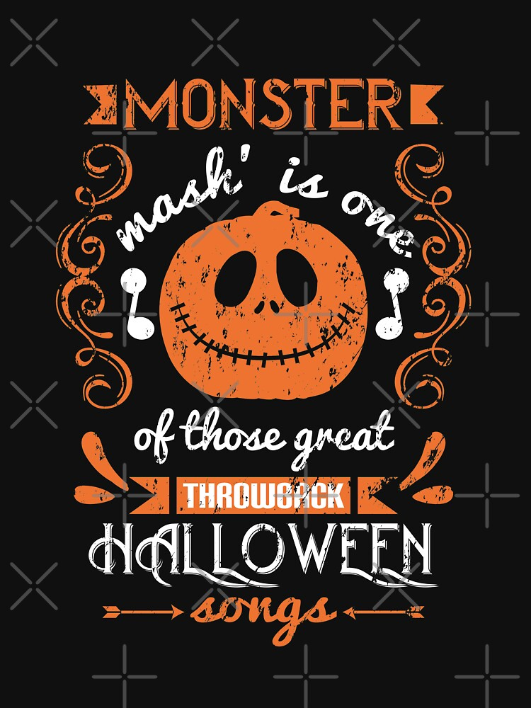 Halloween Monster Mash Throwback songs grunge by NextLVLShirts