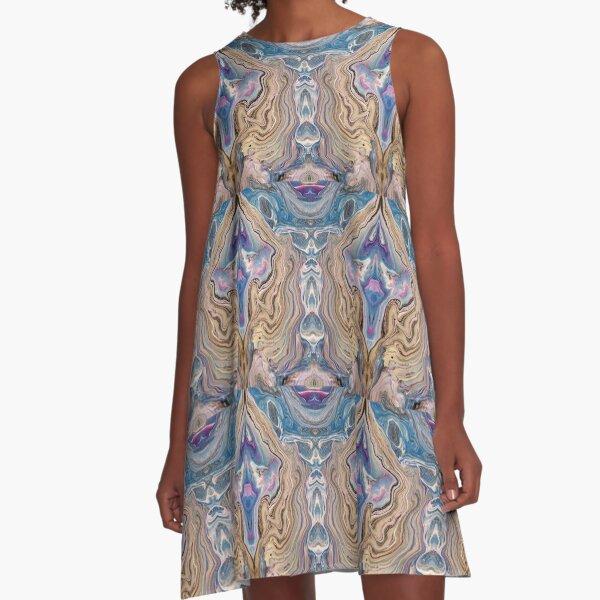 BP Flow Pattern Four A-Line Dress