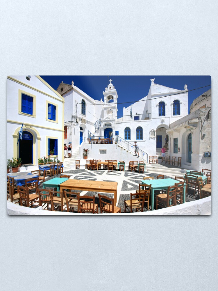 Alternate view of Porta square, Nikeia village, Nisyros island Metal Print