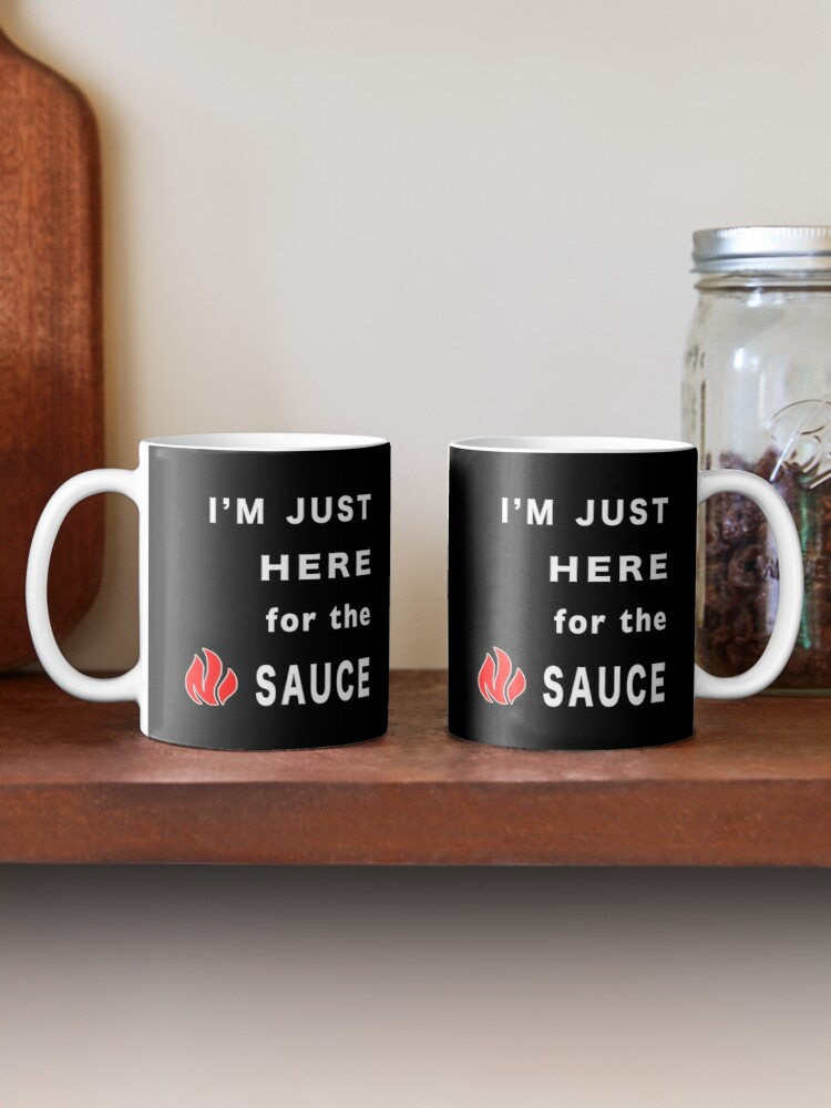 Alternate view of Im Here for the Sauce Spicy Pepper Chicken Wings. Mug
