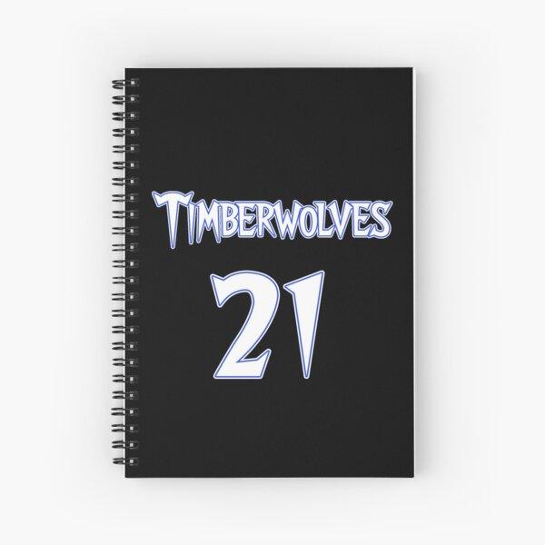 Kevin Garnett Minnesota Timberwolves Jersey Spiral Notebook