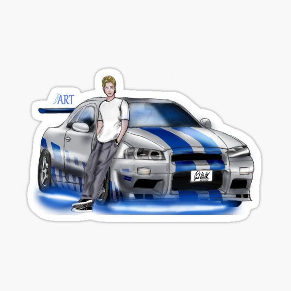 """""""For Paul"""" Fast and the Furious Sticker"""