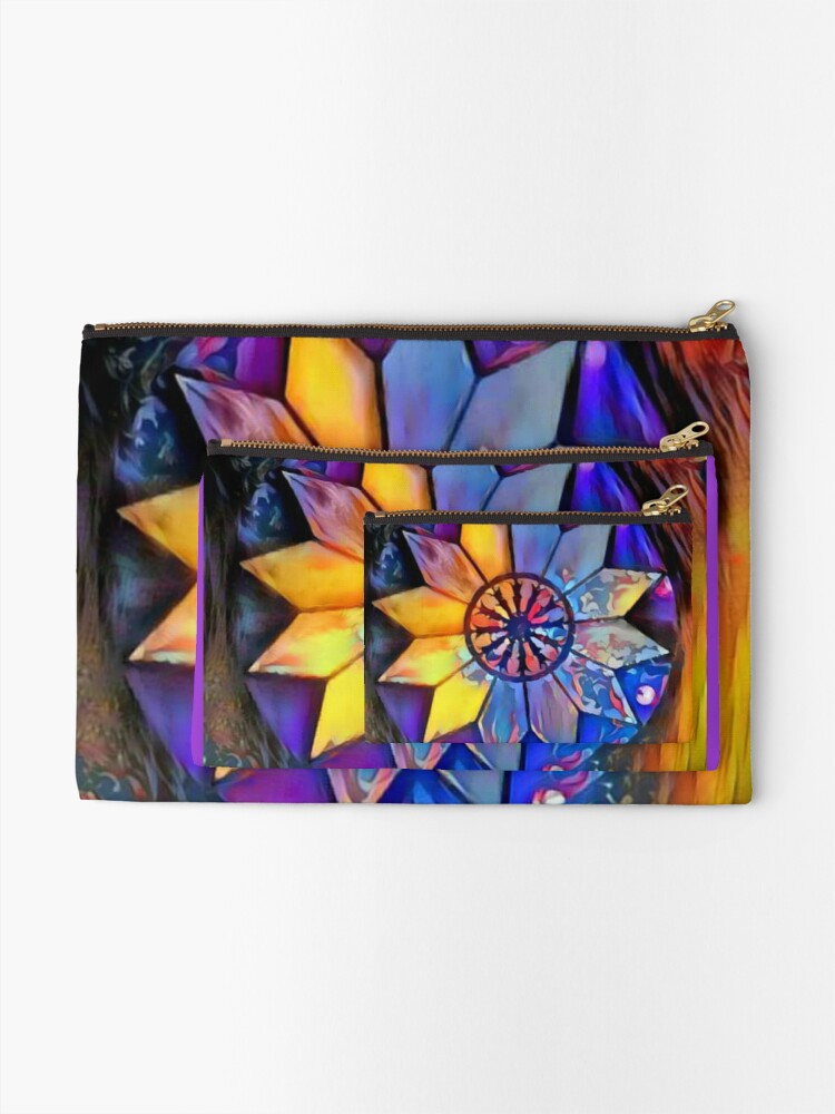 Alternate view of The Victory Theatre-Evansville IN-Interior lights-Amethyst & Topaz Zipper Pouch