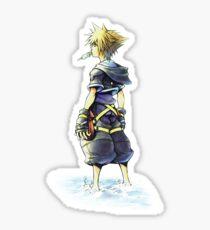 Kingdom Hearts - Sora on beach Sticker