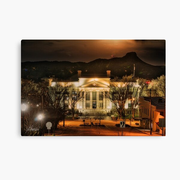 Eerie Vibes at the Downtown Courthouse Canvas Print