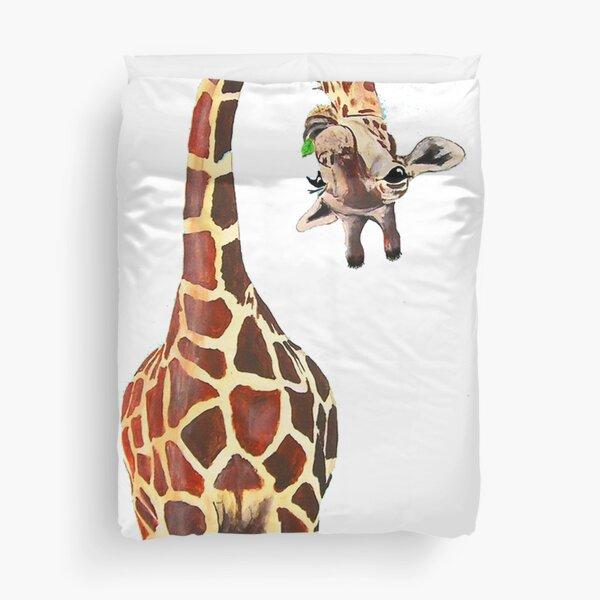 giraffe and annika Duvet Cover