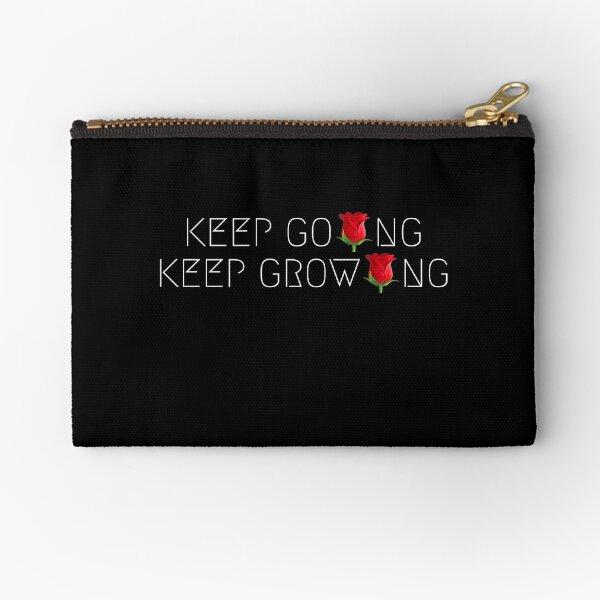 KEEP GOING, KEEP GROWING Zipper Pouch