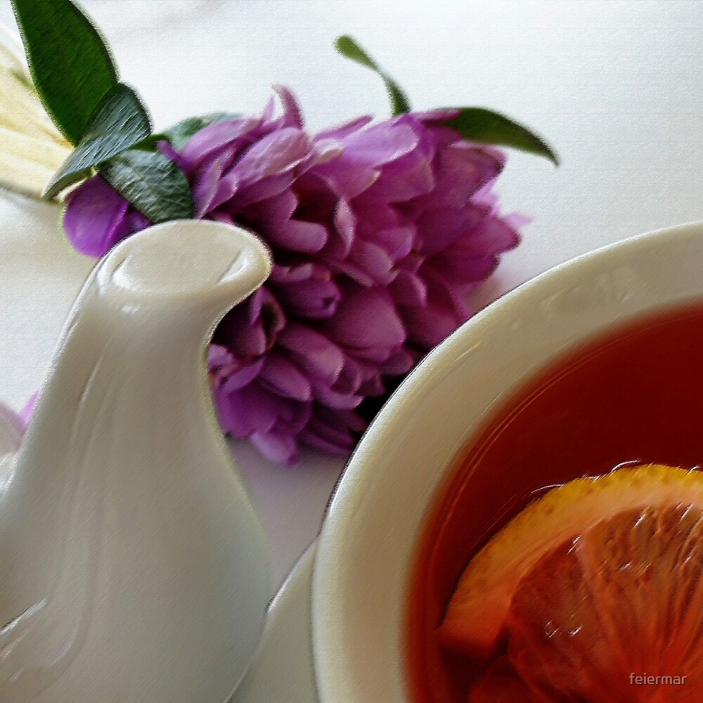 flowers and tea by feiermar