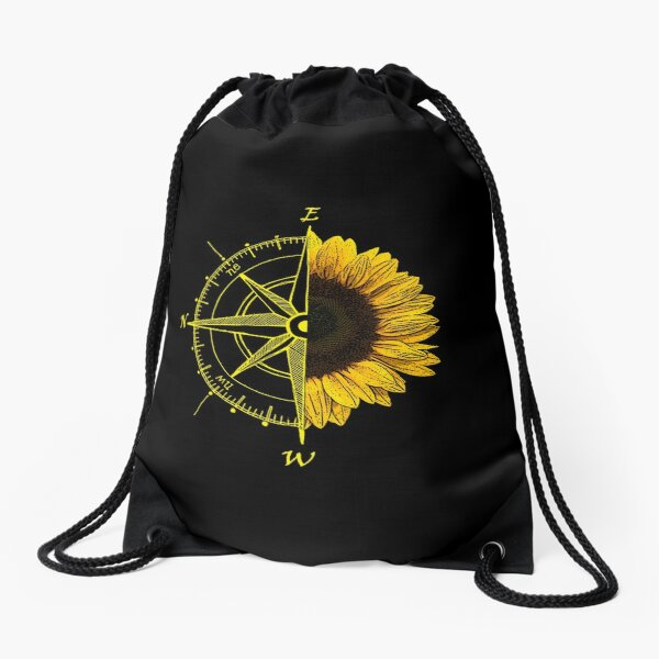 East is up Drawstring Bag
