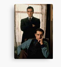 The Godfather - Al Pacino, Robert De Niro Canvas Print