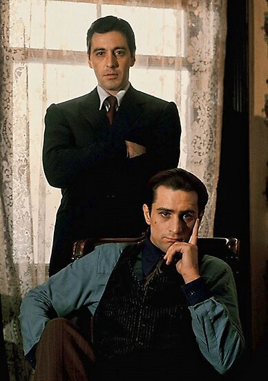 Der Pate Al Pacino Robert De Niro Fotodrucke Von B Group Redbubble
