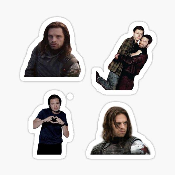 Sebastian Stan Bucky barns sticker pack Sticker