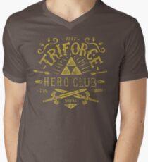 Triforce Hero Club Mens V-Neck T-Shirt