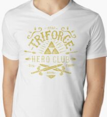 Triforce Hero Club Mens V-Neck T-Shirt