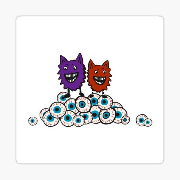Little Monsters Eyeballs Sticker