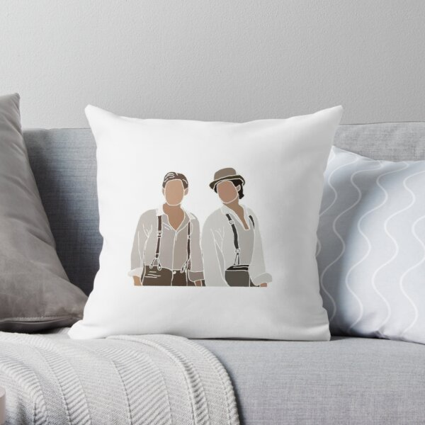Stefan and Damon Throw Pillow