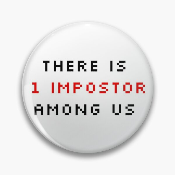 """video game imposter streamer pinback buttons AMONG US 10 total 1/"""" pins"""