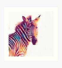 The Aesthetic - Watercolor Zebra Illustration Art Print