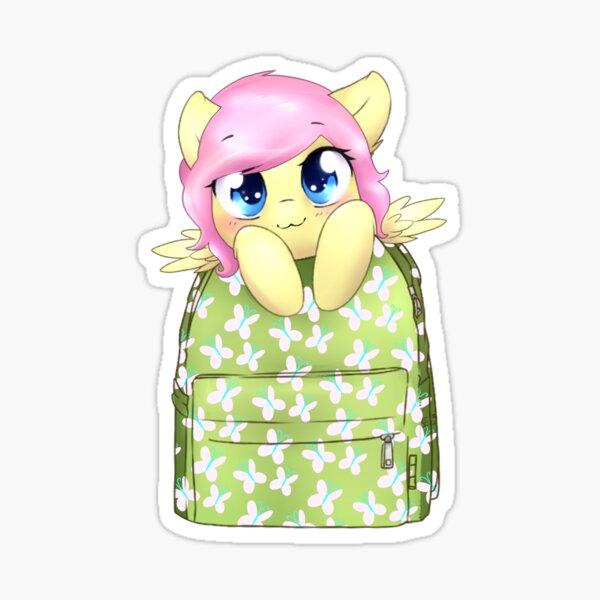 Fluttershy Bagpack Pony Sticker