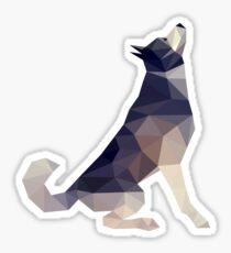 Husky Dog Illustration Sticker