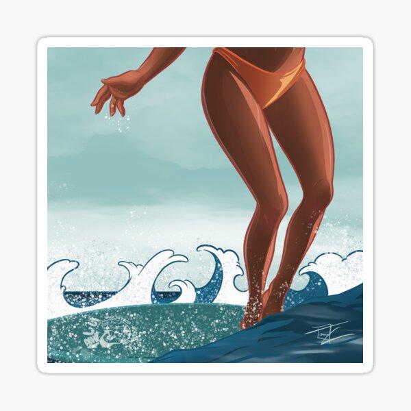 Surf Walk Sticker