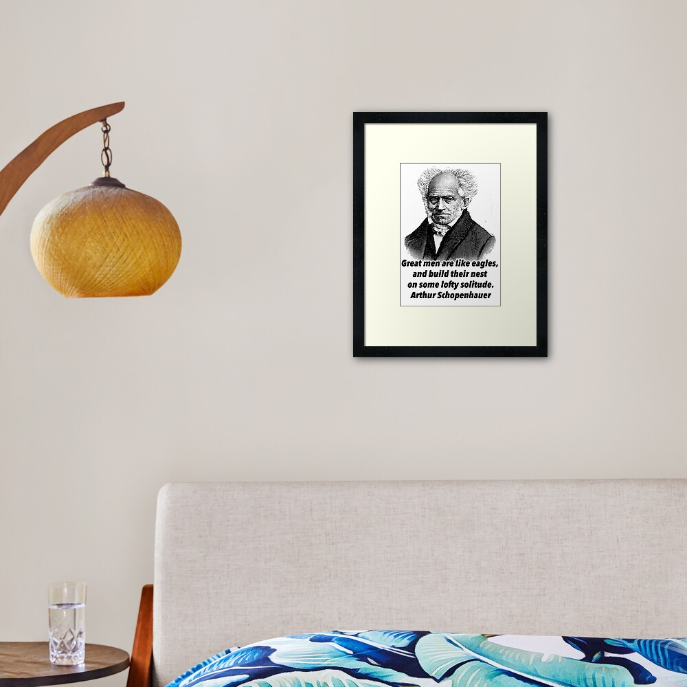 Arthur Schopenhauer quotes | Framed Art Print