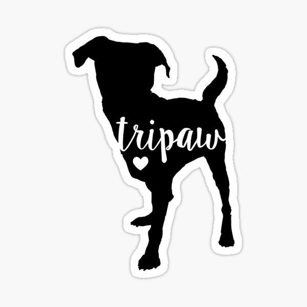 Tripaw Dog, Tripaw Love, Tripod Dog, Tripaw Strong, Dog Lover Sticker
