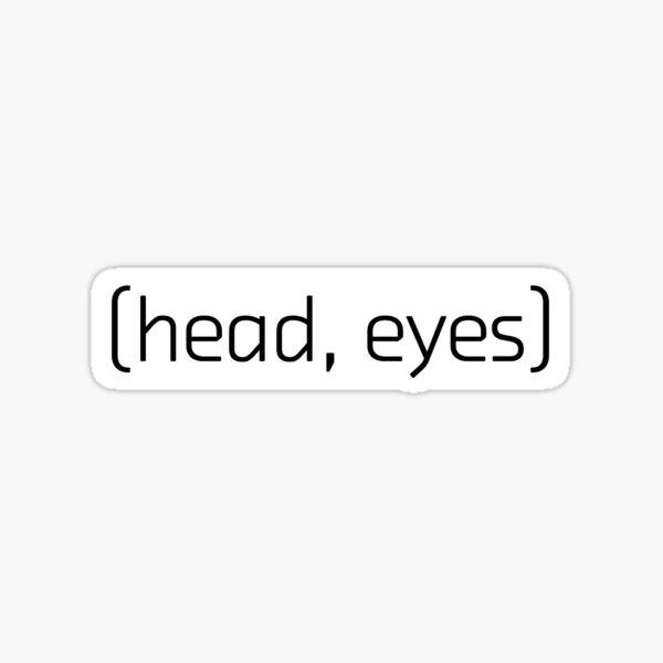 (tête, yeux) Sticker