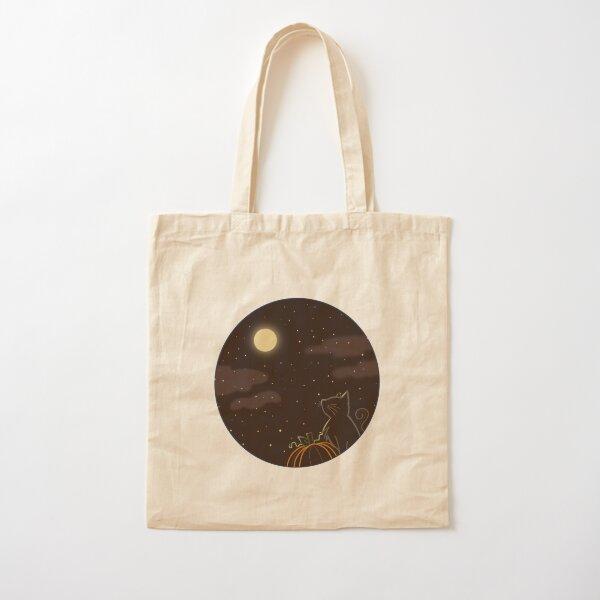 Halloween Scene Cotton Tote Bag