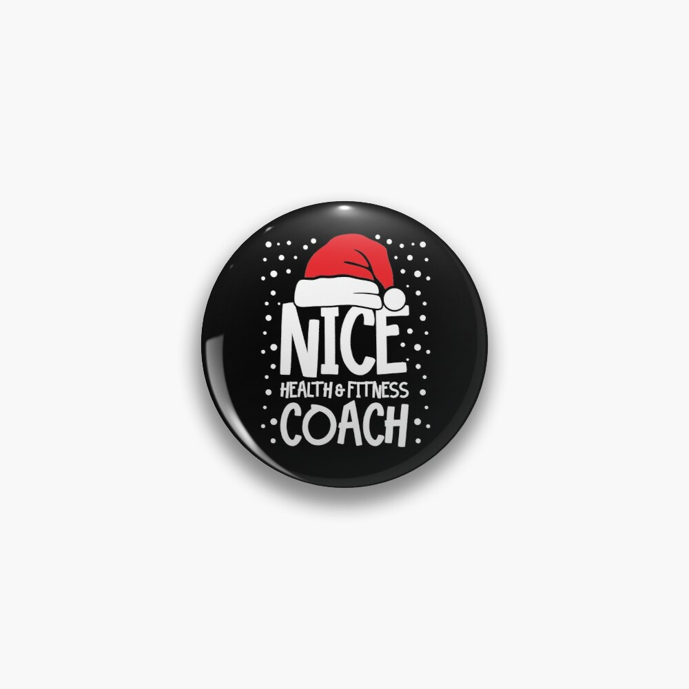 Nice Fitness Coach - Personal Trainer Christmas Gift Pin