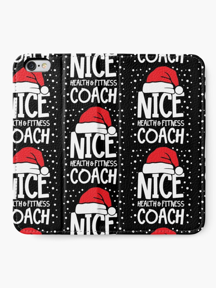 Alternate view of Nice Fitness Coach - Personal Trainer Christmas Gift iPhone Wallet
