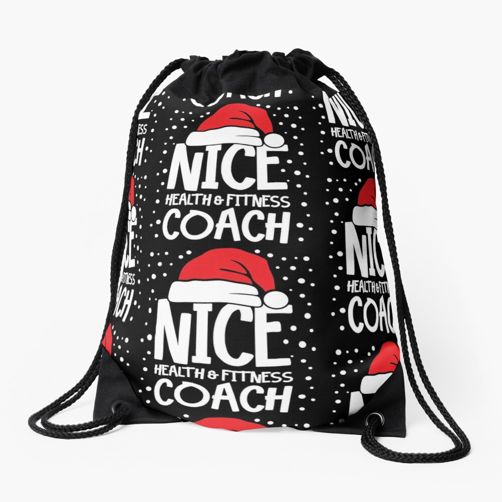 Nice Fitness Coach - Personal Trainer Christmas Gift Drawstring Bag