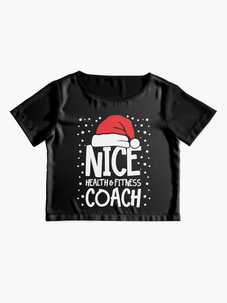 Alternate view of Nice Fitness Coach - Personal Trainer Christmas Gift Chiffon Top