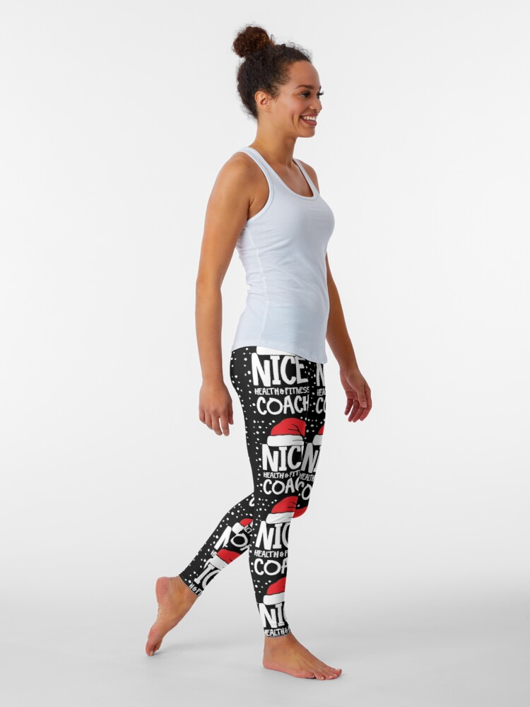 Alternate view of Nice Fitness Coach - Personal Trainer Christmas Gift Leggings
